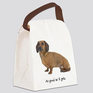 FIN-dachshund-smooth-good Canvas Lunch Bag